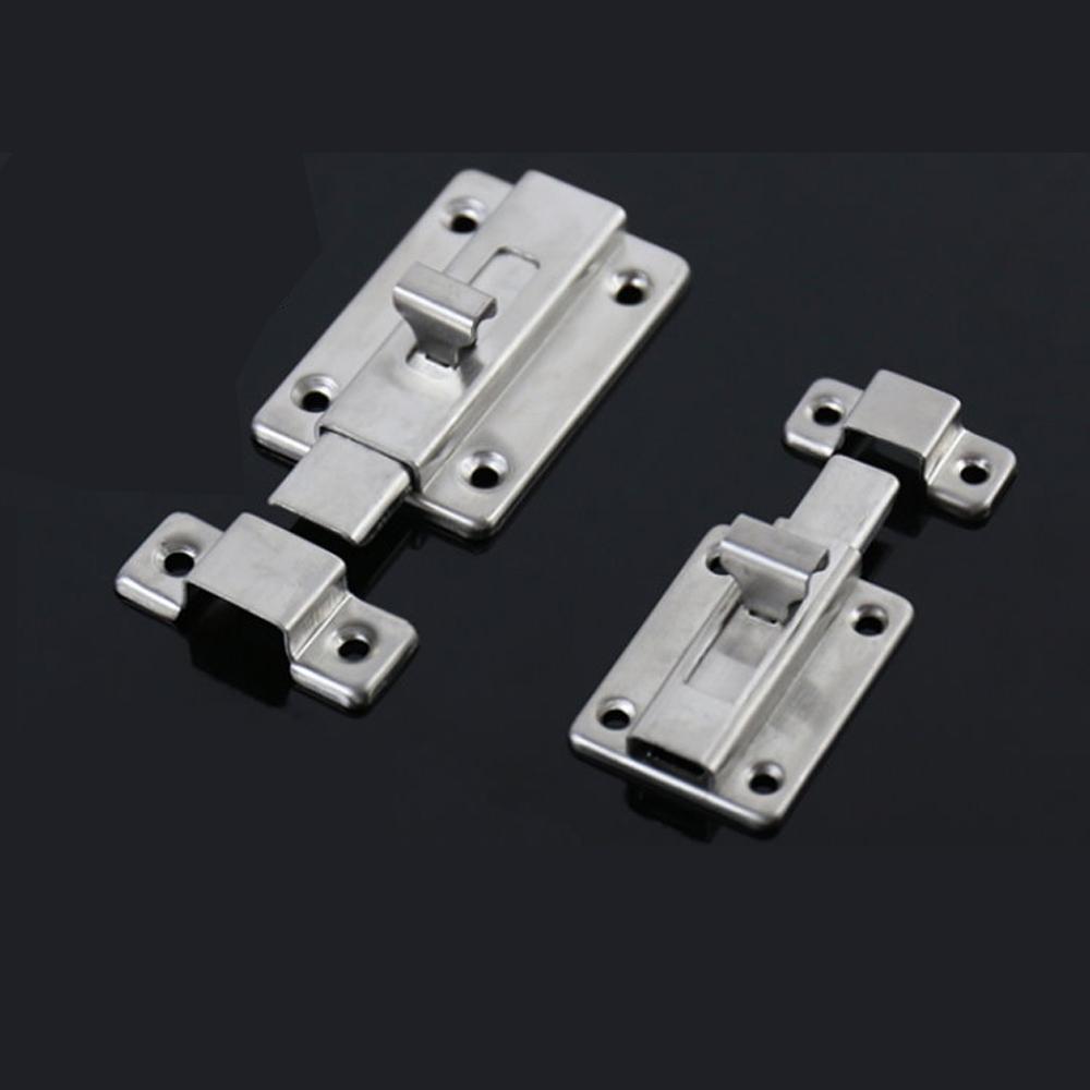 HE001 不銹鋼浴廁鎖 2寸 白鐵製 手動方型栓/門閂/平閂/橫栓/暗閂/天地閂