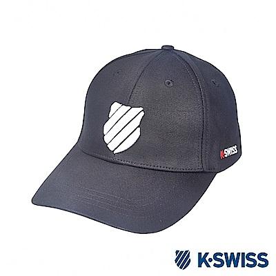 K-SWISS Basic 3D Shield Logo Cap時尚棒球帽-黑