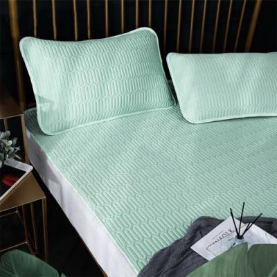 Lily Royal 60支頂級天絲乳膠可水洗軟蓆枕套二件組 單人 海蔚藍