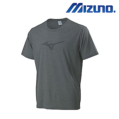 MIZUNO 美津濃 男短袖圓領排汗運動衣 灰 32TA801005