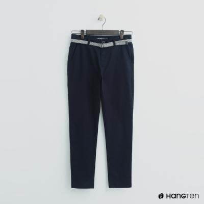 Hang Ten - 女裝 -腰帶造型修身長褲 - 深藍