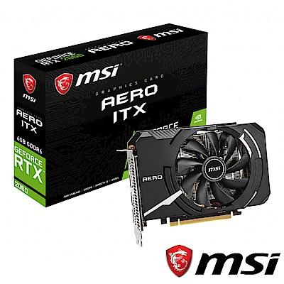 MSI微星 GeForce RTX 2060 AERO ITX 6G 顯示卡