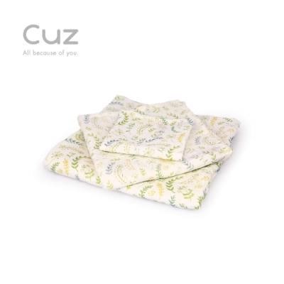 【Cuz】花草暖身操(防皺紗布巾/方巾/嬰兒包巾)-115cm