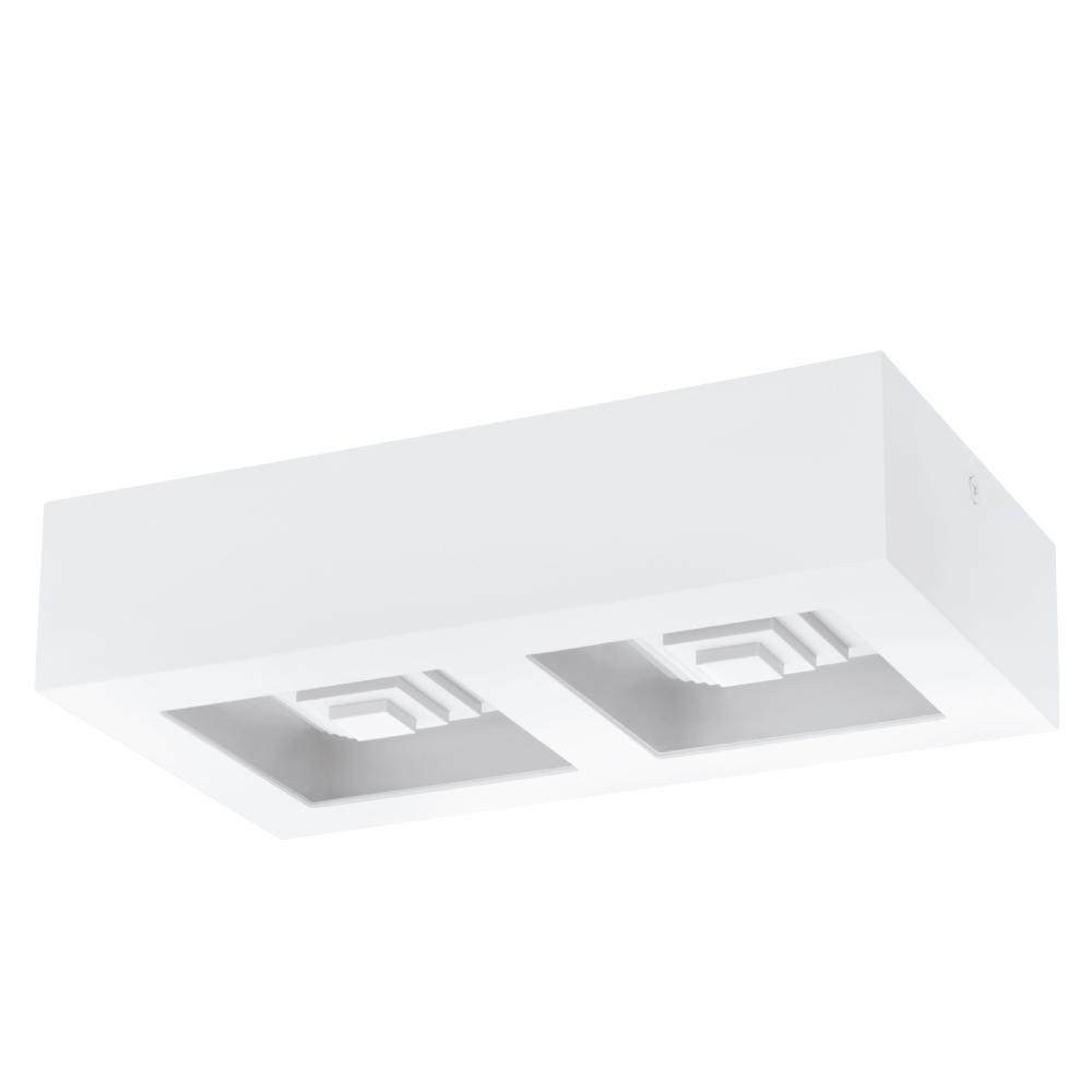 EGLO歐風燈飾 時尚白LED雙燈式吸頂燈