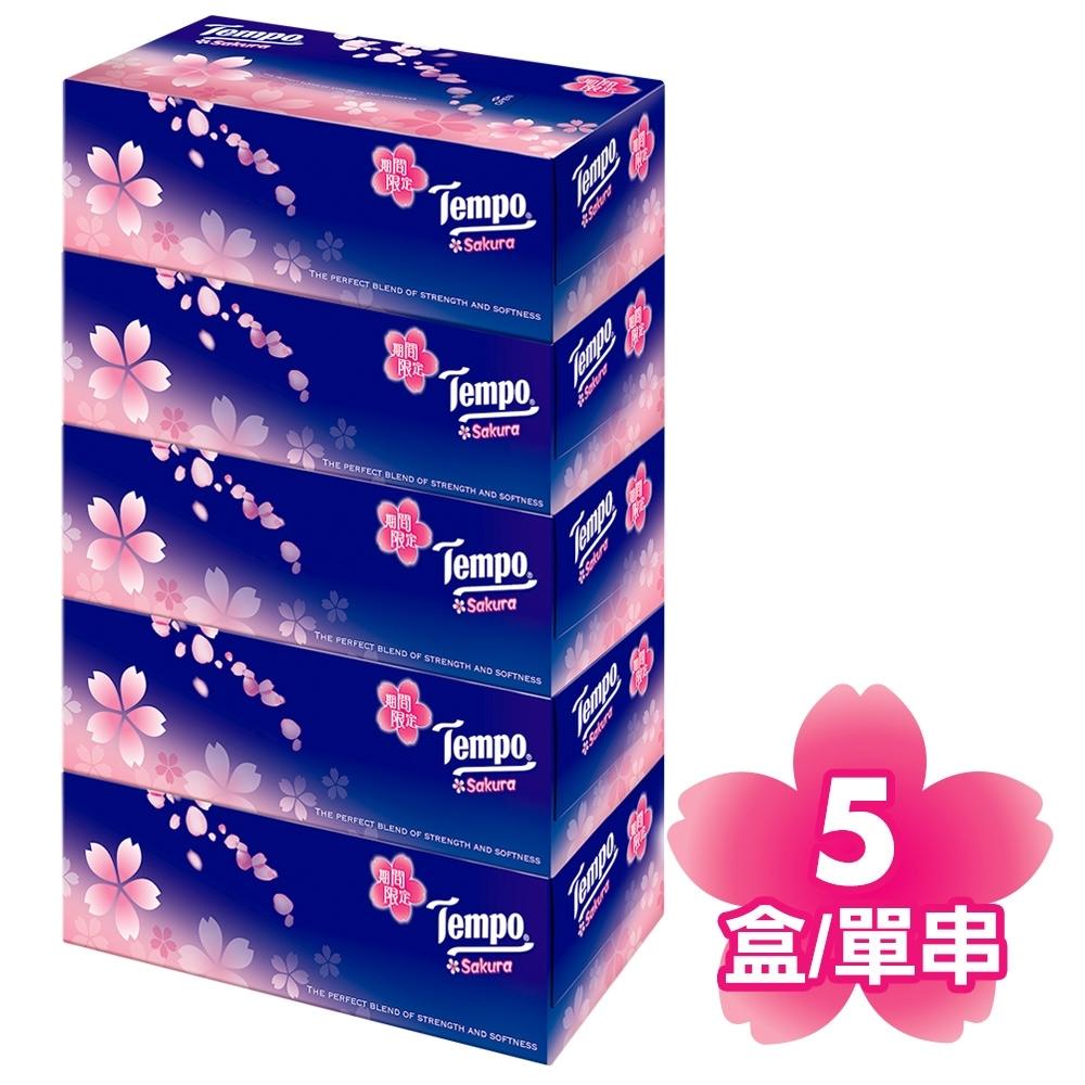Tempo三層盒裝面紙-櫻花(86抽x5盒/串)
