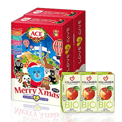 ACE 2018聖誕巡禮月曆禮盒2入+荷林有機果汁3入