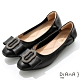 DIANA 2.5cm質感羊皮水鑽圓環尖頭娃娃鞋-俏皮甜美-黑 product thumbnail 1