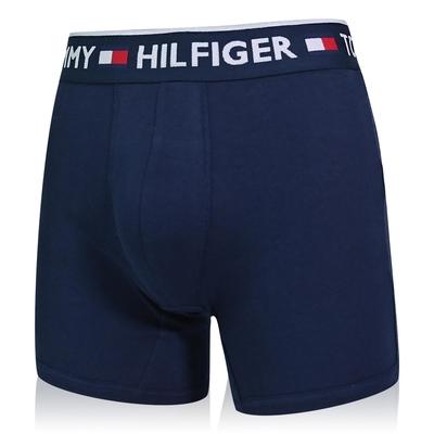 Tommy Hilfiger Bold Cotton 男內褲 棉質高彈性合身平口褲/Tommy四角褲-海軍藍