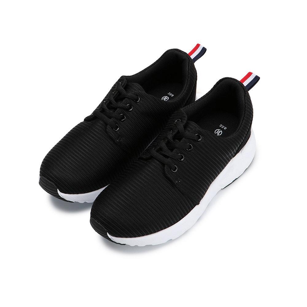 BuyGlasses 素面質感無限慢跑鞋-黑