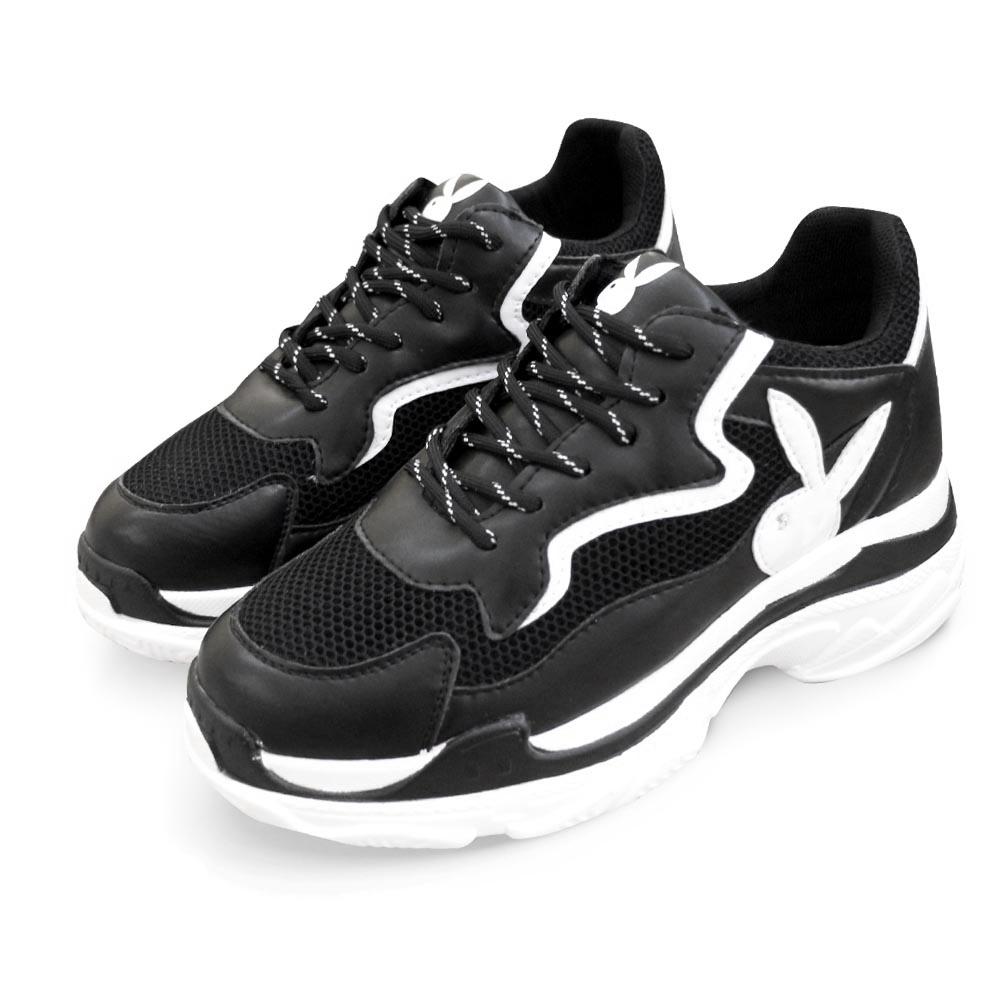 PLAYBOY Snatch兔兔老爹鞋-黑白 Y5266C1