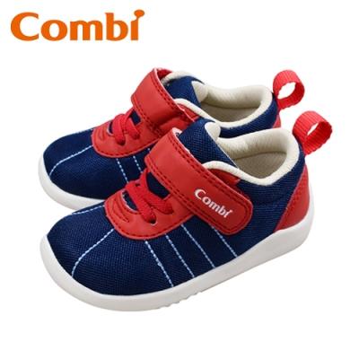 日本Combi童鞋 玩轉經典幼兒機能包鞋-綻紅藍