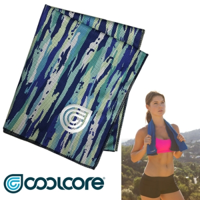 COOLCORE Chill Sport 涼感運動巾【印花系列 】藍海洋 /新色上市