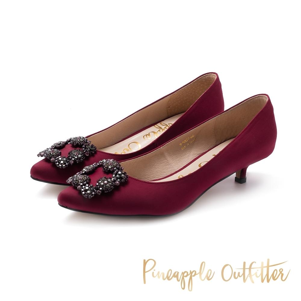 Pineapple Outfitter-PIXAR璀璨名媛方鑽釦跟鞋-特殊紋紅色