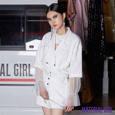 MATERIAL GIRL 假兩件雷絲造型上衣【20夏季款】-21138