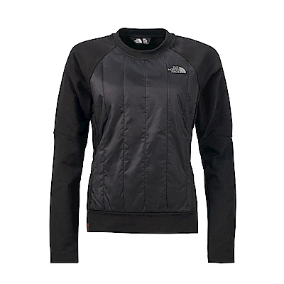 The North Face北面女款黑色保暖防潑水長袖T恤|3RFVJK3