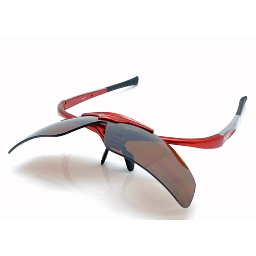台灣PHOTOPLY可掀式大聯盟太陽眼鏡( 絢麗紅+CD12藍光鏡備片)