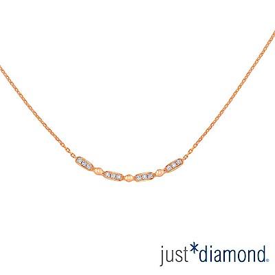 鎮金店 Just Diamond 鑽石玫瑰金 項鍊-Rosana