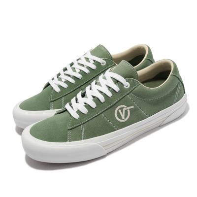 Vans 休閒鞋 Saddle Sid Pro 簡單俐落 男鞋 圓形V Logo 滑板 緩震 穿搭 綠 白 VN0A4BTBZXQ