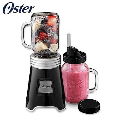 美國OSTER-Ball Mason Jar隨鮮瓶果汁機(黑)BLSTMM-BBK