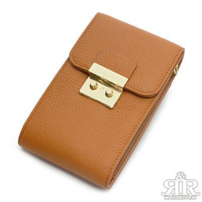 2R 訂製fashion牛皮手機鍊帶收納包 質感棕
