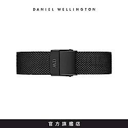 DW 錶帶 14mm寂靜黑米蘭金屬編織錶帶