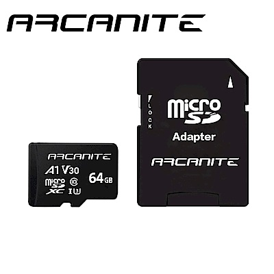 ARCANITE Micro SDXC U3 V30 A1 64GB 記憶卡