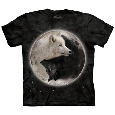 摩達客-美國The Mountain 陰陽狼 純棉環保短袖T恤