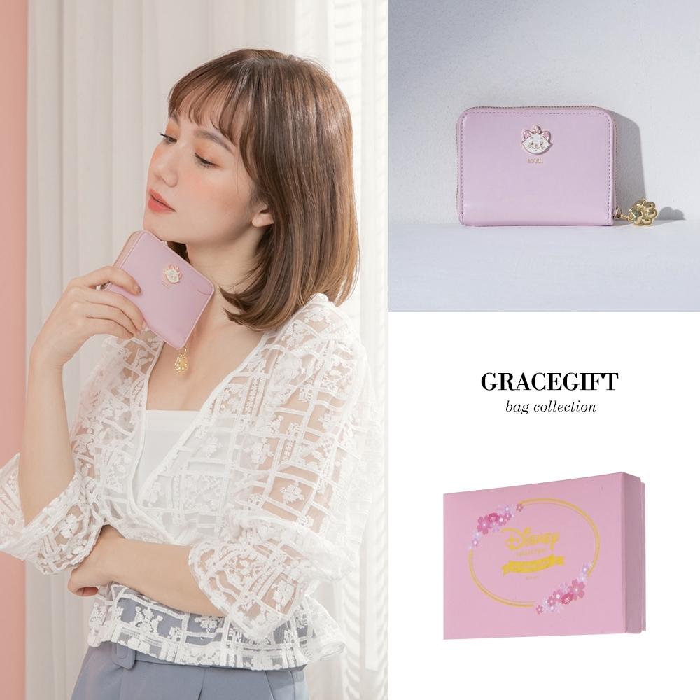 Disney collection by gracegift-迪士尼櫻花壓印票卡短夾 粉 product image 1
