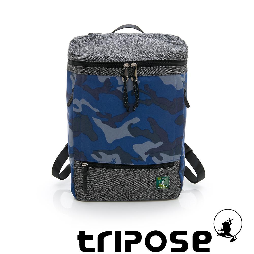 tripose微旅系列 岩紋x尼龍混紡後背包 迷彩