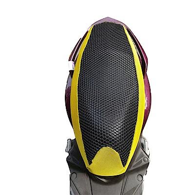 金德恩 台灣製造 機車隔熱網墊套(夜視版) 椅墊不再燒呼呼 黃+黑