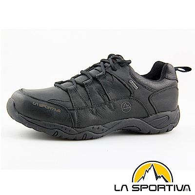 【ATUNAS 歐都納】LA SPORTIVA GORE-TEX真皮防水休閒鞋LA-13003黑