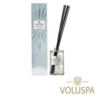 美國香氛VOLUSPA 華麗年代系列 悠遊太平洋 浮雕玻璃罐室內擴香192ml