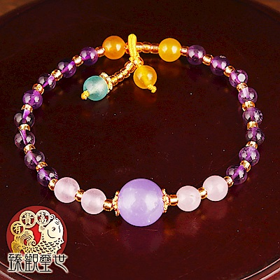 臻觀璽世 紫氣東來  西藏風紫水晶招貴人手鍊