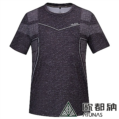 【ATUNAS 歐都納】男款ATUNAS-TEX短袖圓領T恤A1-T1911M黑