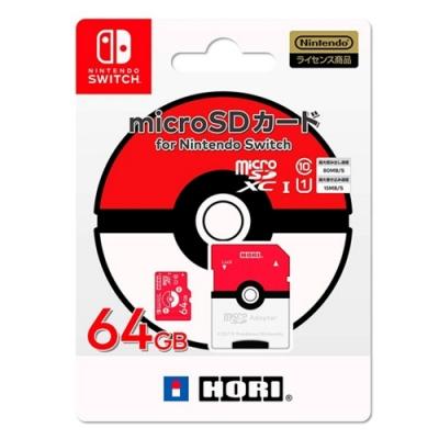 HORI 任天堂 Switch用 寶可夢 精靈球 microSD卡 64G NSW-191