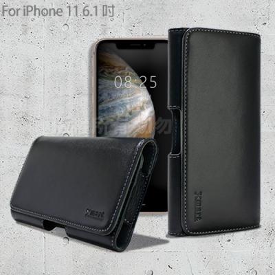 Xmart for iPhone 11 6.1吋 型男羊皮橫式腰掛皮套
