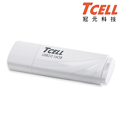 TCELL 冠元-USB2.0 16GB 無印風隨身碟(簡約白)