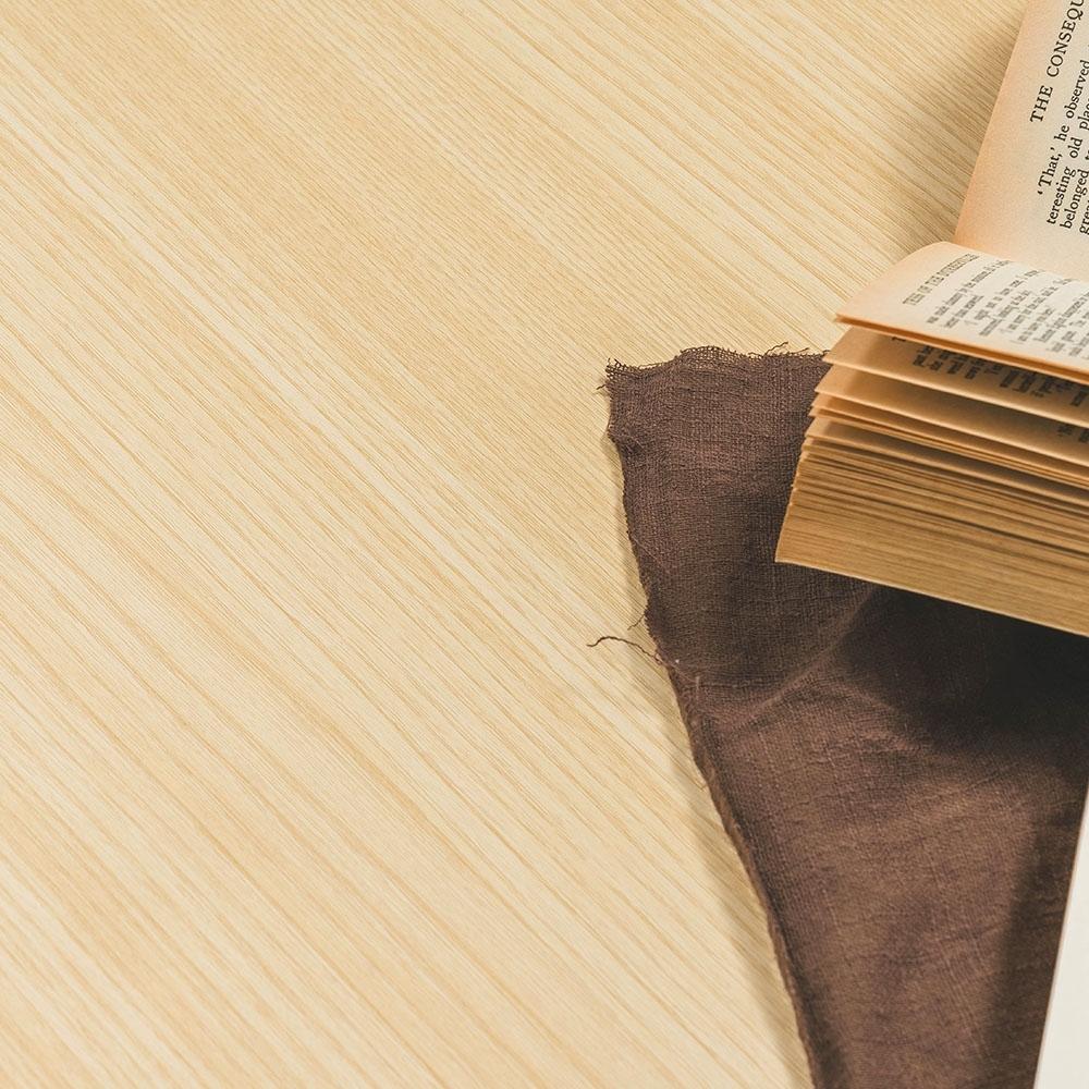 樂嫚妮 DIY裝修加厚防水仿木紋壁貼 60X300cm-黃杉木色