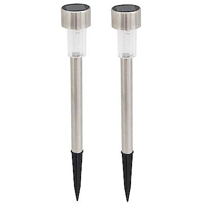 月陽小鋼釘太陽能充電式自動光控LED庭園燈草坪燈超值2入(5016D2)