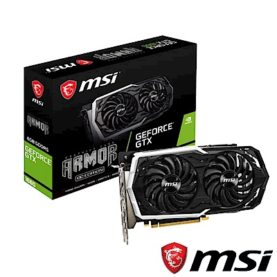 MSI微星 GeForce GTX 1660 ARMOR 6G OC顯示卡