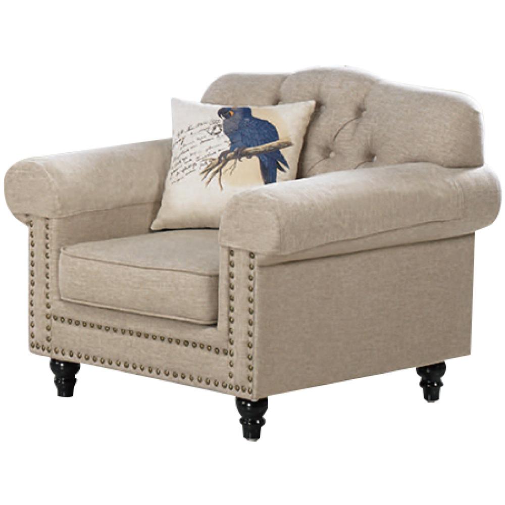 文創集 波巴現代法式布質單人座沙發椅-103x93x87cm免組