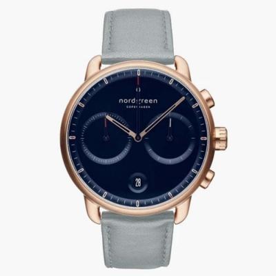 Nordgreen Pioneer | 北歐藍錶盤 - 霧霾藍純素皮革錶帶42mm(PI42SIVEDONA)