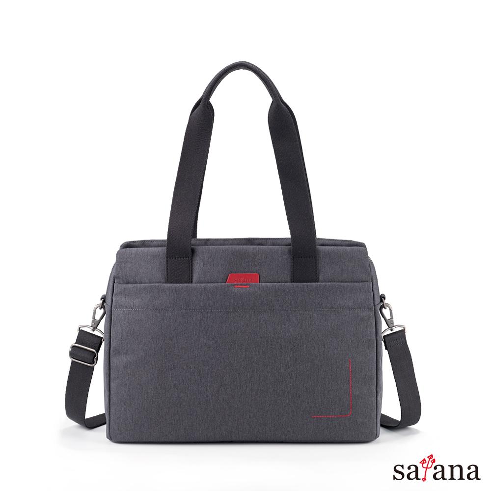 satana - Fresh 輕職人俐落肩背包 - 麻花黑