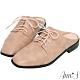 Ann'S中性魅力-不破內裡牛津綁帶穆勒鞋 -粉(版型偏小) product thumbnail 1