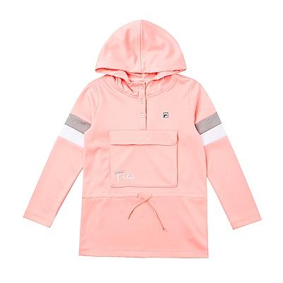FILA KIDS 童連帽長版上衣-粉紅 5TES-8415-PK