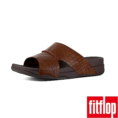 FitFlop TM-BANDO MEN S CROC EFFECT-深褐色