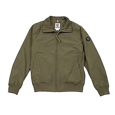 Timberland男款橄欖色筒形立領飛行夾克 | A1W8QH08