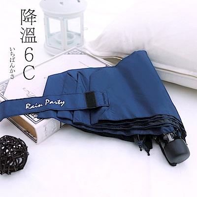 好傘王 手開傘-不透光黑膠吹不壞瑜珈傘3.0版(深藍色)