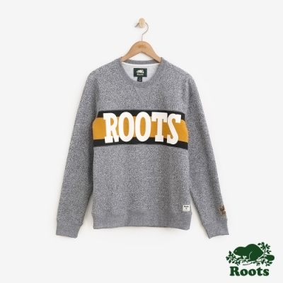 ROOTS男裝周年系列刷毛圓領上衣-灰色