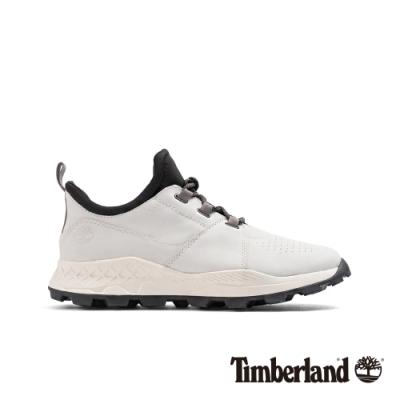 Timberland 男款白色磨砂革Brooklyn跑酷鞋|A248S